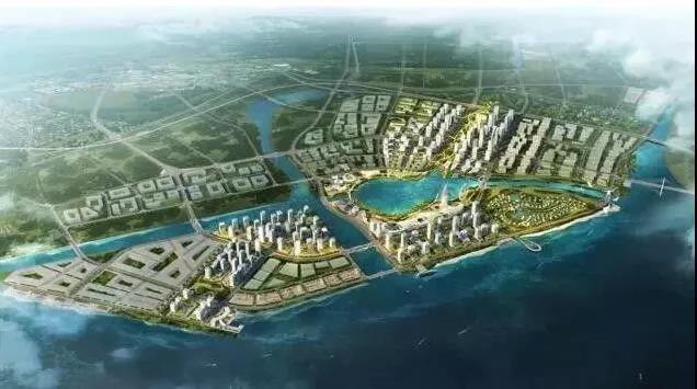 滨海湾新区城市设计效果图
