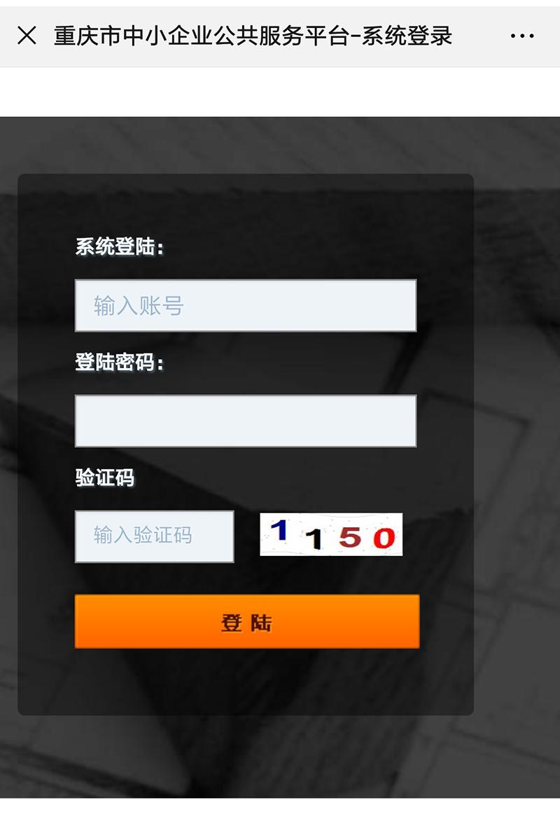 重庆市中小企业公共服务系统登录平台.png
