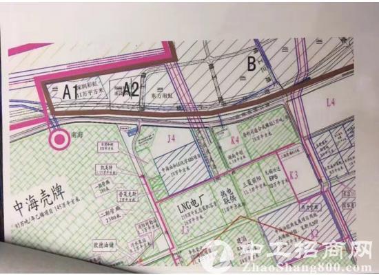 大亚湾工业地165.6亩 地址,惠州大亚湾,中海壳牌对面 宗