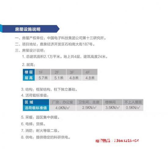 河北省石家庄鹿泉区军民融合技术企业孵化器厂房招租-图2