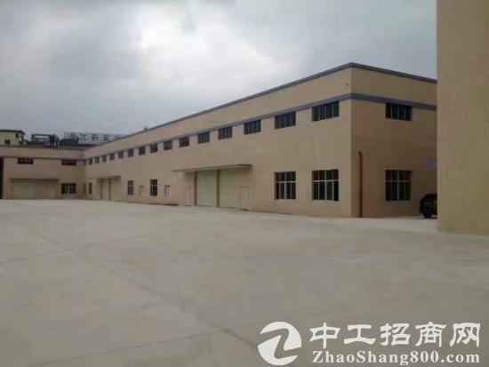 大朗镇犀牛陂村刚出空地超大的独院钢构厂房
