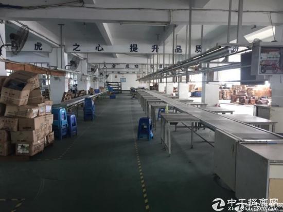 石岩宝石东路边新出楼上1800平精装修无转让费厂房招租-图3
