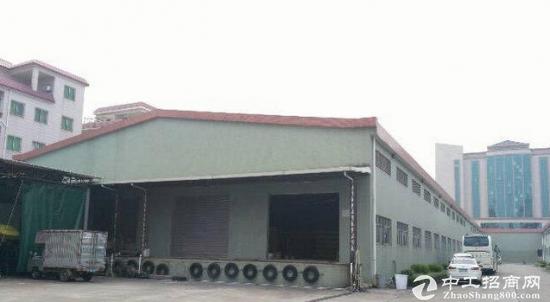 寮步石大路旁独院单一铁皮厂房1600平方米招租