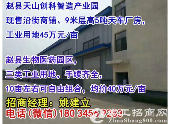 (非中介出售)石家庄赵县西环旁园区标准厂房9米高500平