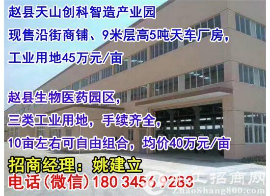 【园区招商 出售】赵县 9米高标准厂房 500平 有天车