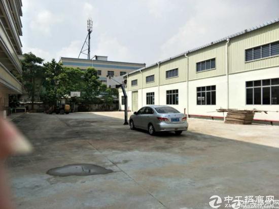 坪山汤坑独栋钢构厂房3500平出租,滴水7米