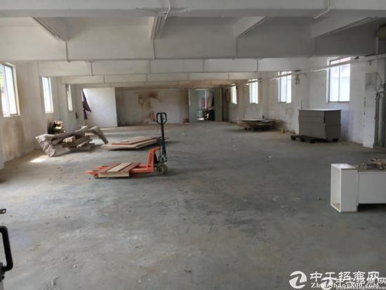 厚街村新出楼上480平零公摊面积厂房,有一套现成办公家具