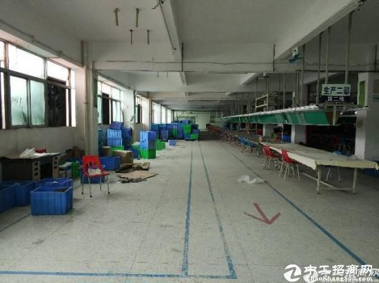 龙岗五联协力路新出楼上无公摊厂房1100平米