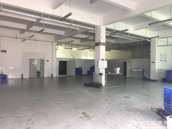 横岗 六约社区标准厂房一楼精装修1360平招租,七米高
