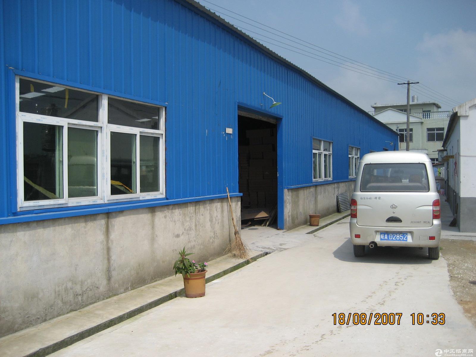 两栋厂房出租3100平米,附近有周谷堆建材城长江大市场
