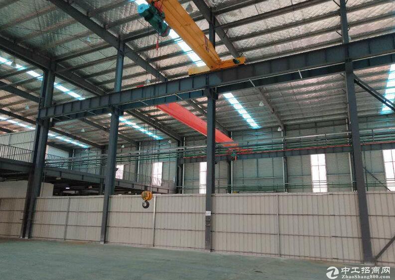 开发区工业园内出租6600钢构厂房平,可任意分租-图2