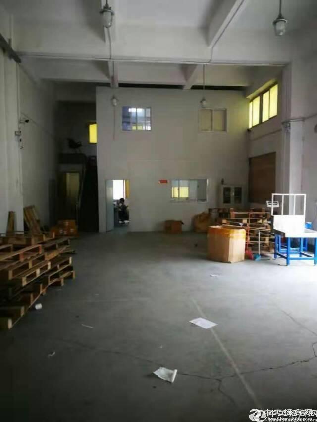 龙岗嶂背新出楼上650平厂房,带装修办公室已隔好
