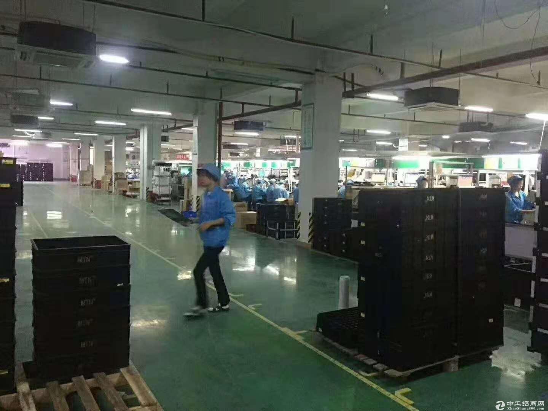 龙岗坪地精装修厂房1500平米出租,带地坪漆
