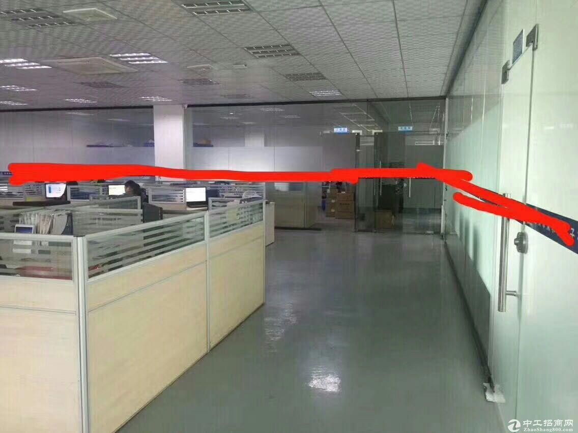 坪山莹展工业区 3楼带装修厂房1200平米急租