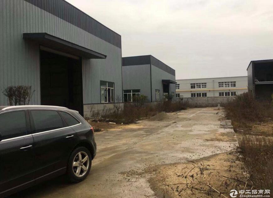 黄冈红安工业园区内,优质钢构厂房出售,停车方便-图3