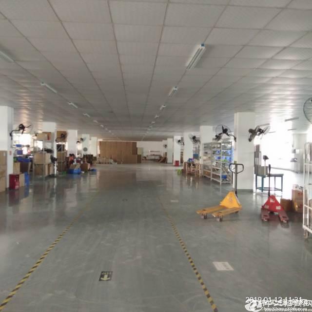 平湖清平高速出口处3楼2200平方带装修厂房出租,水电现成 空地大-图3