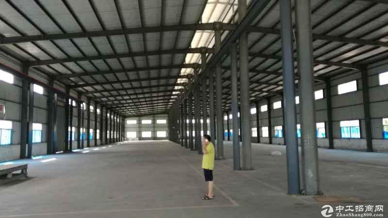 坪地中心村最新空出1300平独院钢构厂房滴水6米