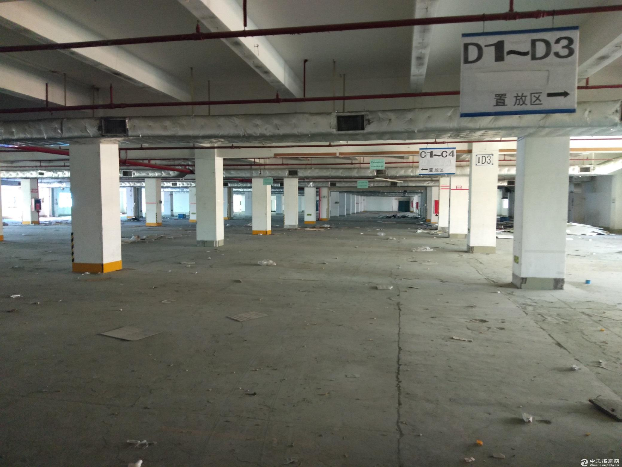 布吉下李朗工业区新出一栋25000平标准厂房出租