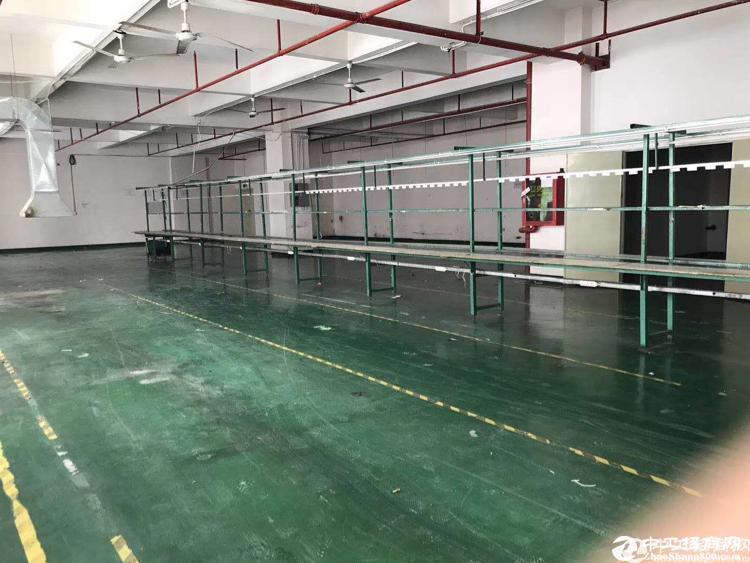 沙井镇后亭大型工业区楼上700平,带装修出租 ,