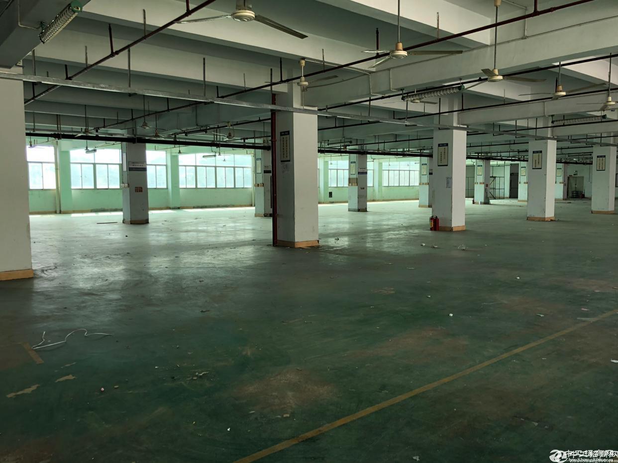 西乡银田工业区楼上带装修1500平米厂房招租;