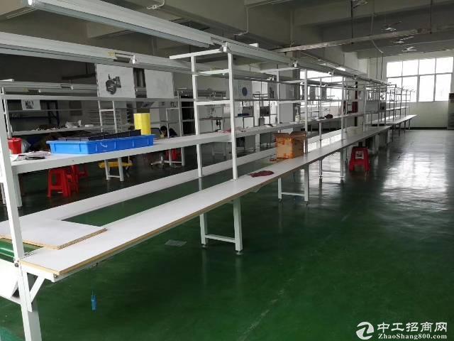 平湖厂房出租 楼上带装修厂房1100平有办公室,水电现成