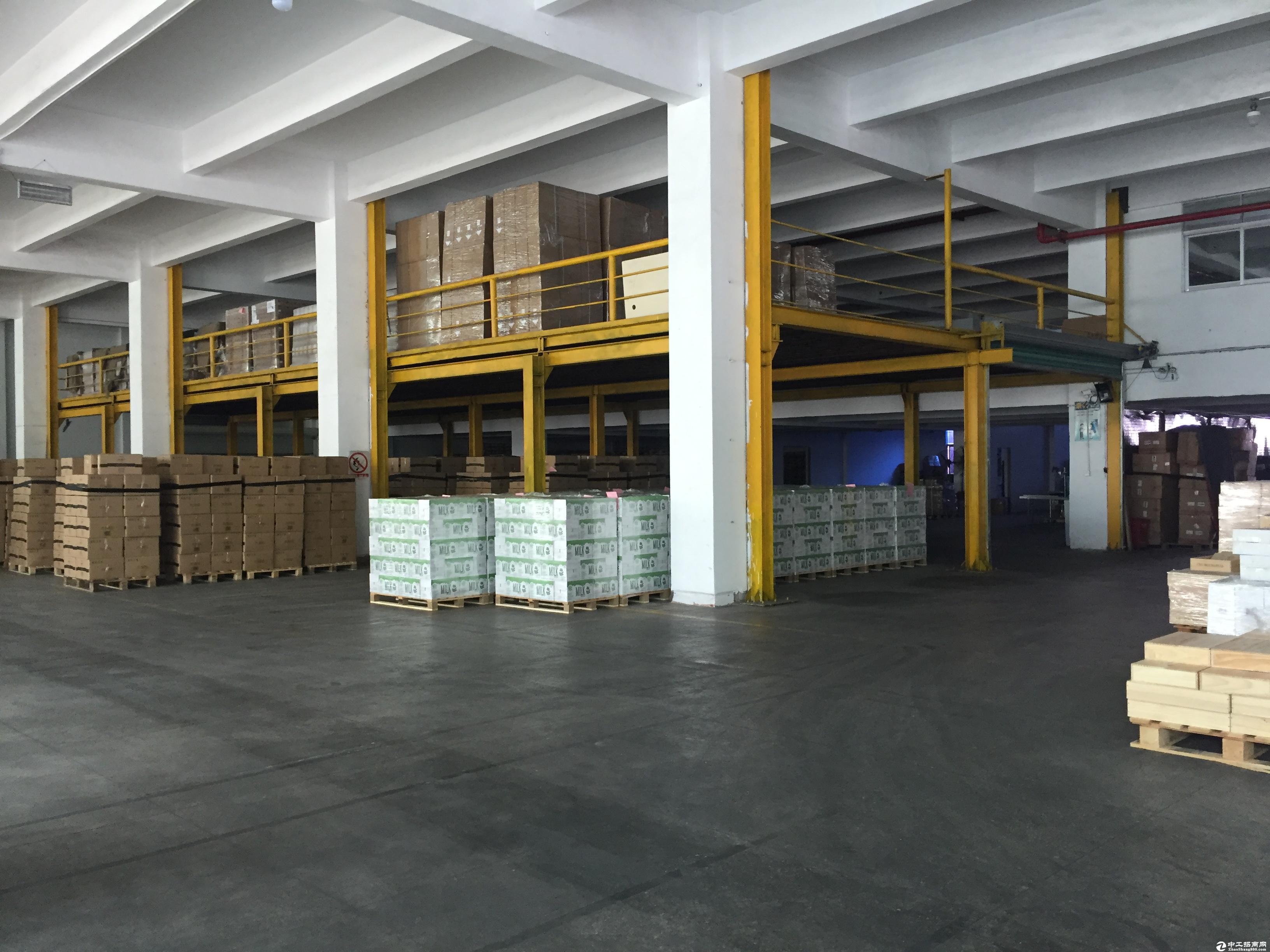 坪山马峦标准物流仓库5000平米出租带卸货平台