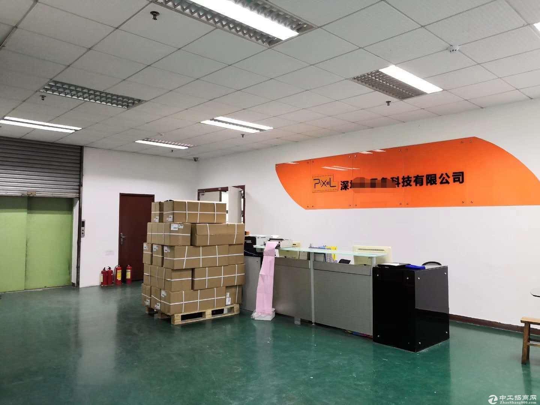 平湖丹竹头二楼电商仓库带装修420平出租可分租一半
