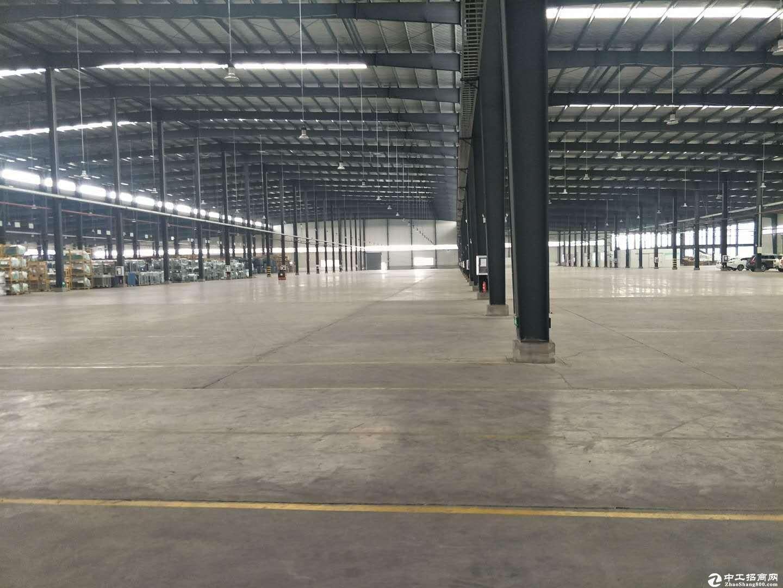 蔡甸仓库15000平方工业园区大型钢结构单体库出租,可分,配套全