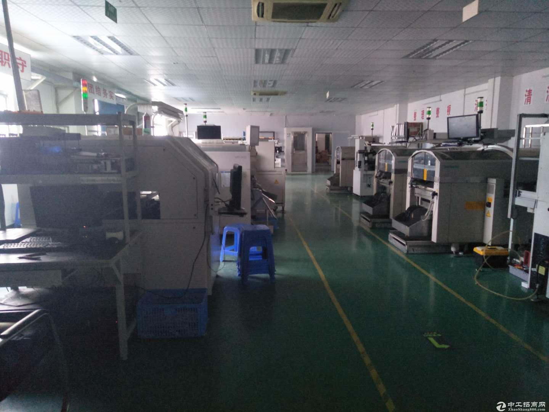 横岗四联社区现成电子厂房1200平米招租
