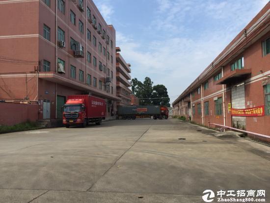 新出石岩松柏路塘头近一楼1450平厂房仓库可进货柜招租