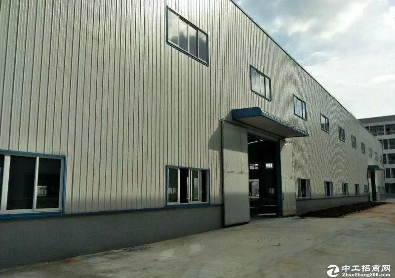 广州新塘新建滴水十米单一层钢构厂房仓库招租带牛角可吊行车面积