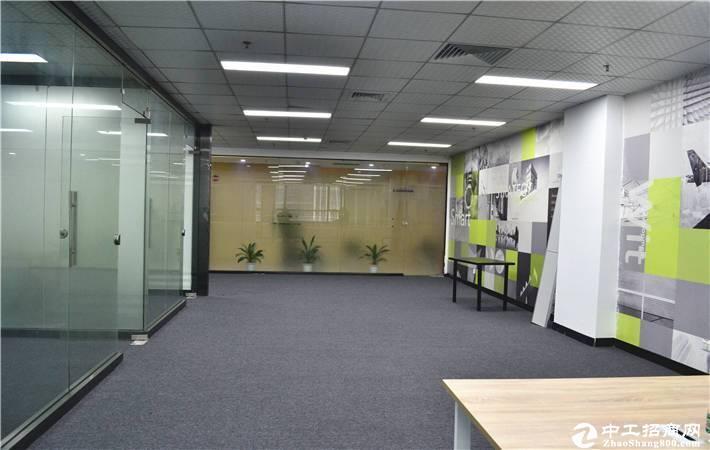 南山区西丽原房东850平米带3间精装办公室招租(可分租)