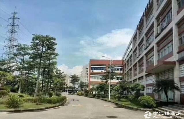横岗安良工业园11000平红本厂房仓库可分租全新玻璃幕墙