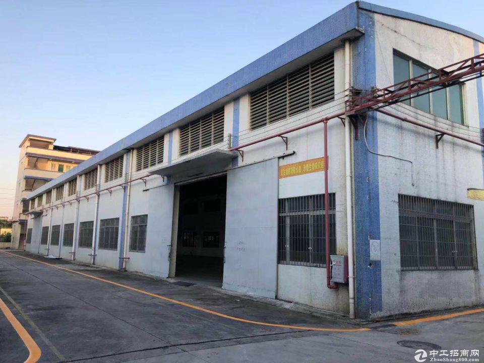 厚街镇桥头村第一工业区新出独院带地坪漆厂房仓库3200平米招租可办环
