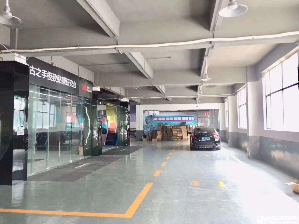 沙井后亭地铁口一楼1750平标准带装修厂房出租