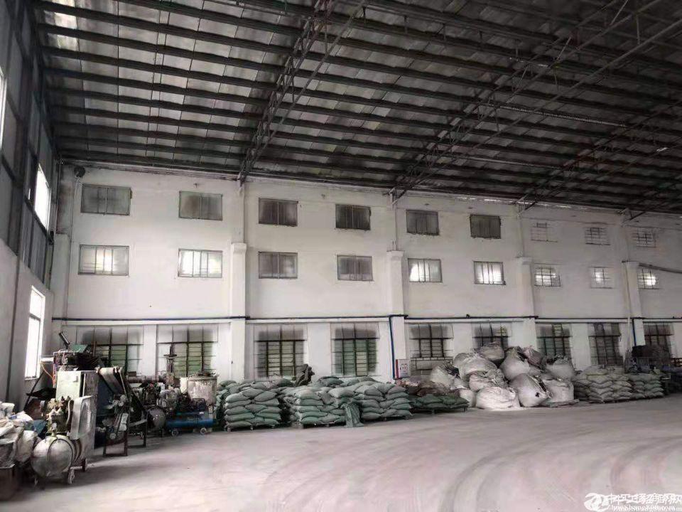 厚街镇溪头村工业区新出原房东单一层标准物流仓库带牛角厂房