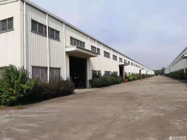 江门市占地:200亩刚出建筑38000平方国有双证重型工业厂房出租