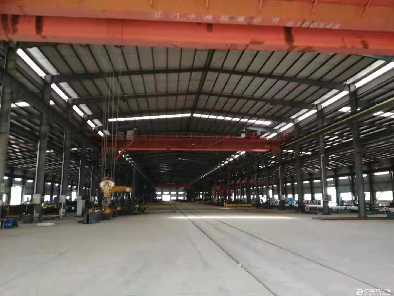 江门市占地200亩现出来建筑38000平方国有双证重型工业厂房出租