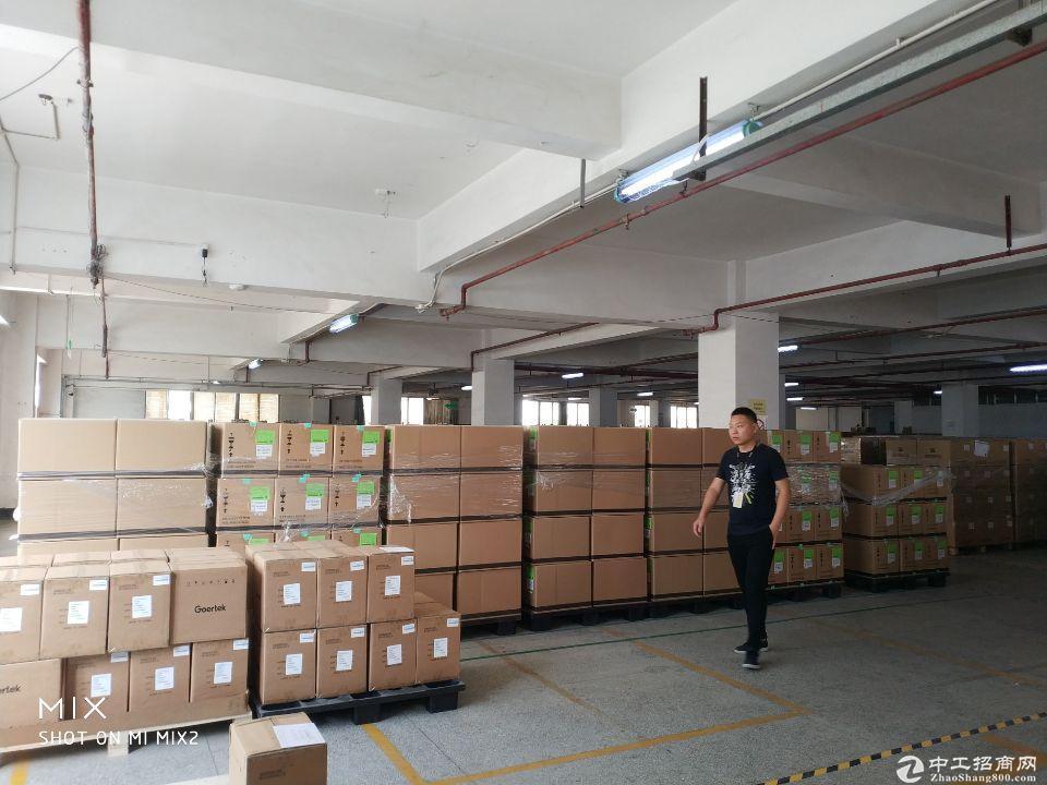 龙华清湖地铁站附近 新出楼上2850平方带卸货平台仓库