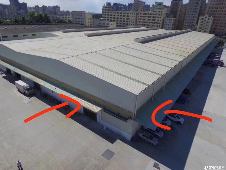 坂田地铁口新出稀有靓盘钢构2600平高12米物流仓库空地超大