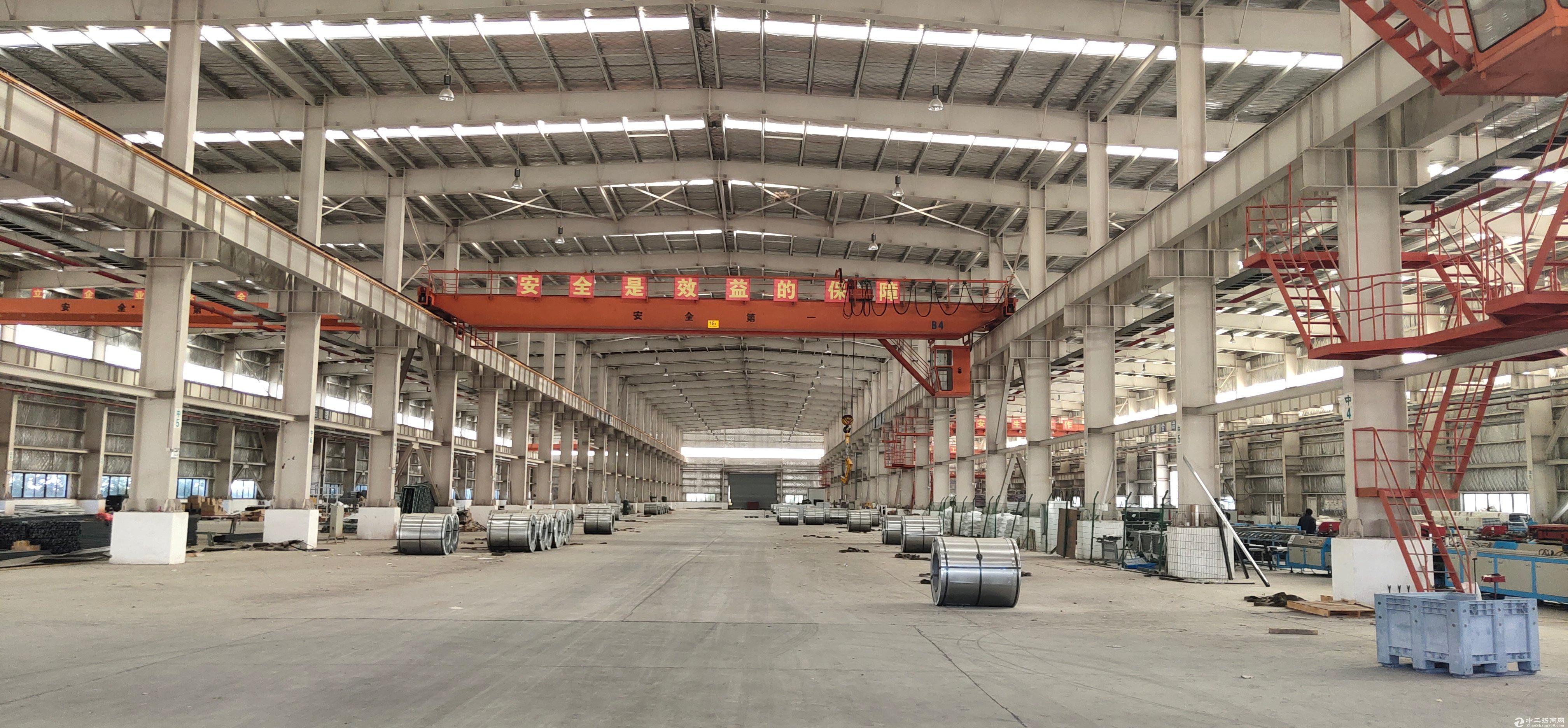阳逻港钢构厂房,自带行吊,直接使用,免物业