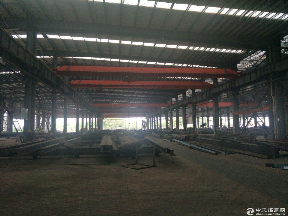8成新钢构厂房,带5-10吨行吊 免物业水费。