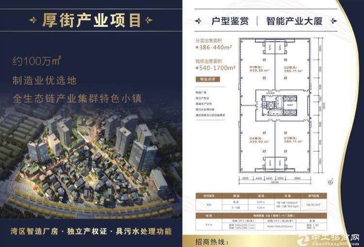 深圳周边,厚街高端全新一手红本厂房招商,可分