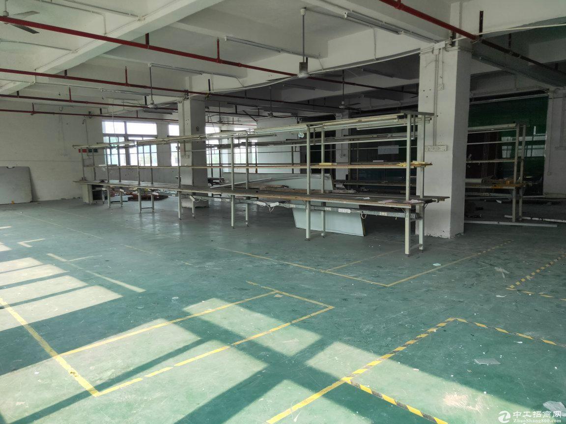 固戍地铁口附近大型工业园楼上带装修600平米厂房仓库出租