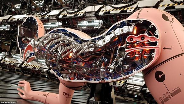 人工智能美女机器人内部结构完善 外形逼真
