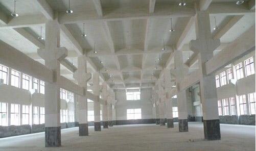标准钢筋混凝土厂房效果图