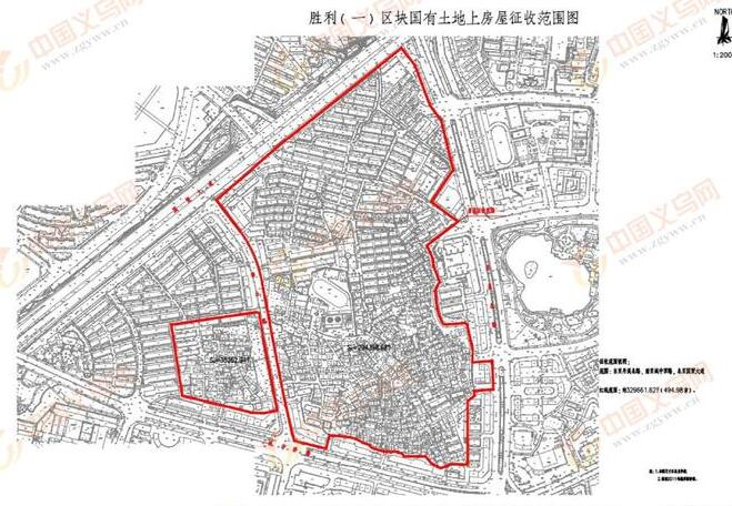 重磅!2018浙江义乌胜利(一)区块国有土地上房屋征收范围图公布
