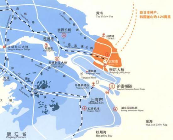 华东最大的开发区启东滨海工业园出售3000亩工业用地和厂房