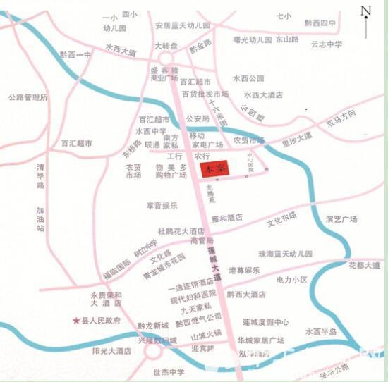 黔西地图 风景区
