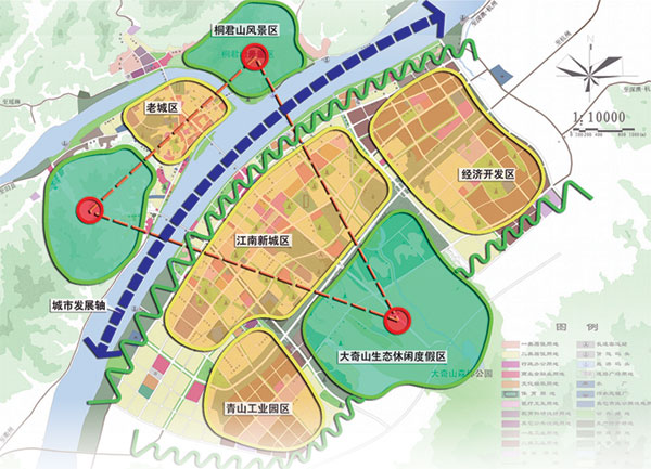 桐庐县风景区地图